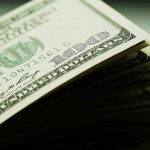 Dollars close up